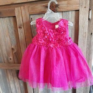 Baby Girl Hot Pink Glitter Tulle Dress